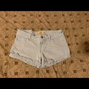 Light Blue Hollister Shorts: 7 w28